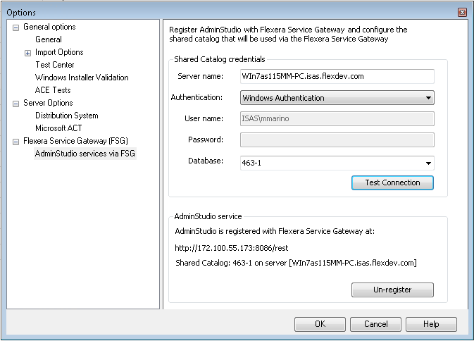 Sharing an Application Catalog Database with Virtual Desktop Assessment