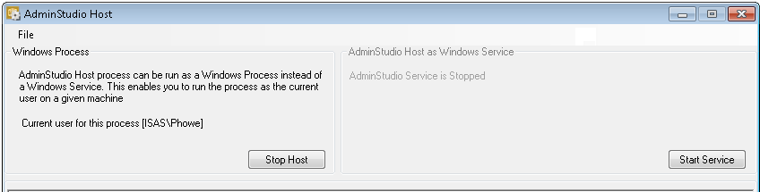 About the AdminStudio Host Process