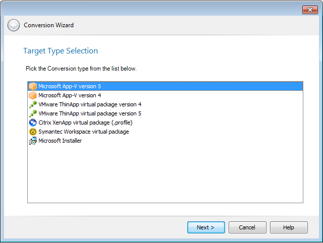 Using the Conversion Wizard to Perform Express Conversion to Virtual