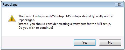 Repackaging a Windows Installer ( msi) Package