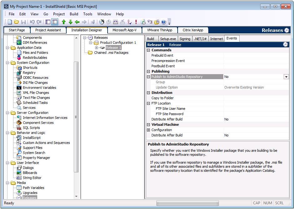 InstallShield Integration with Application Catalog Software
