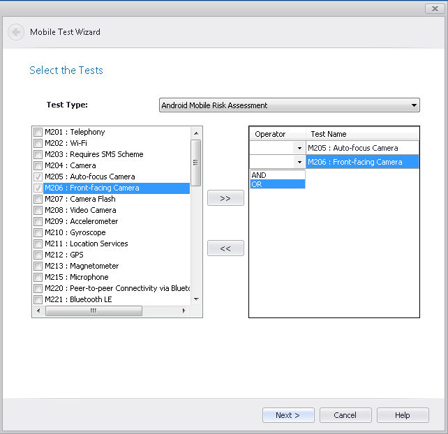 Creating Custom Mobile Tests Using the Mobile Test Wizard