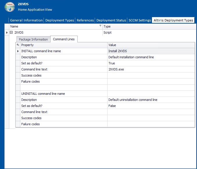 Altiris Deployment Data Tab