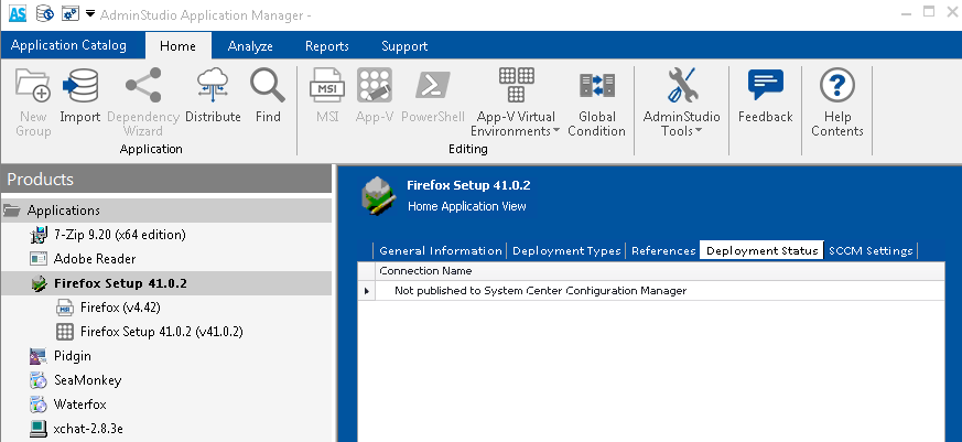 Viewing an Application's Configuration Manager Deployment Status
