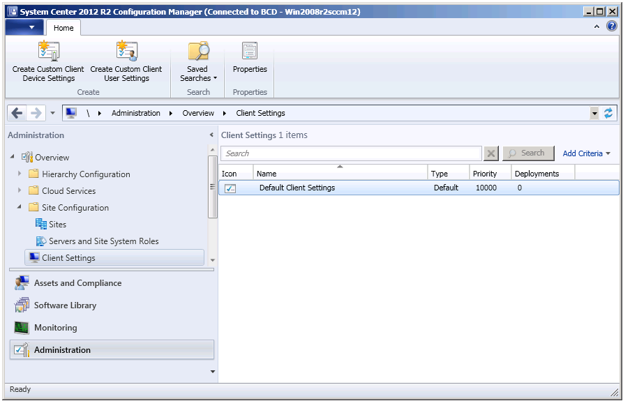 Setting the System Center Configuration Manager Update Schedule