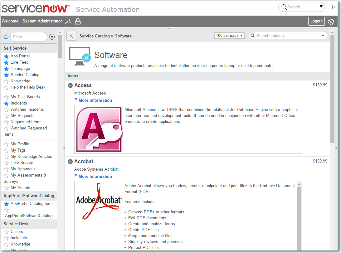 App Portal / App Broker for ServiceNow 2016 SP2