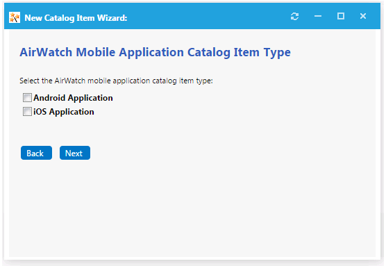 Creating an AirWatch Mobile Application Catalog Item