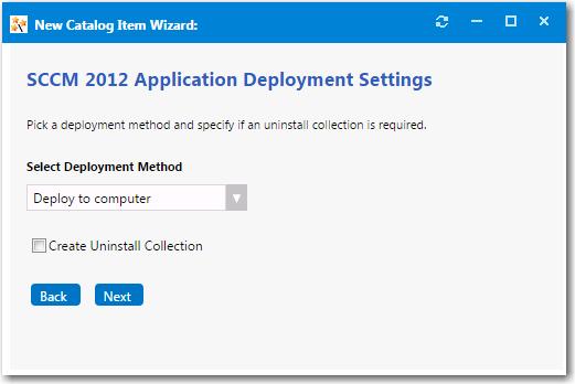 ConfigMgr/SCCM 2012 Deployment Settings Panel