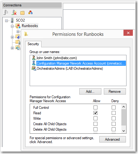 Connecting to Microsoft System Center Orchestrator
