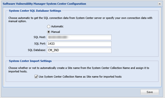 System Center Inventory Import