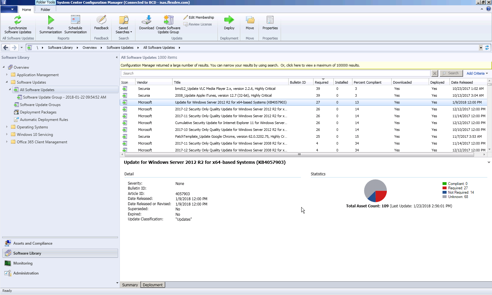 Configuring SCCM to Report Windows Update Information