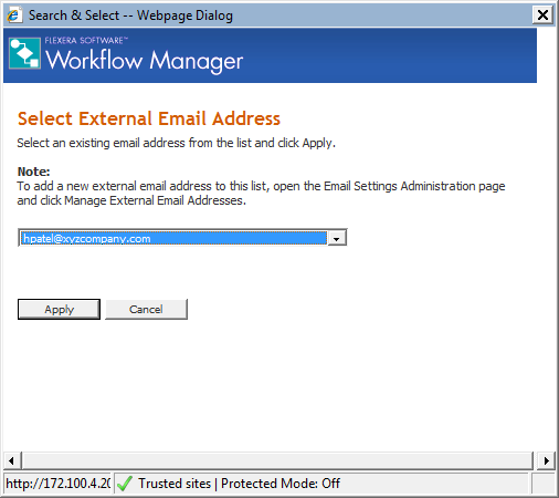 Adding External Email Addresses to an Email Notification List